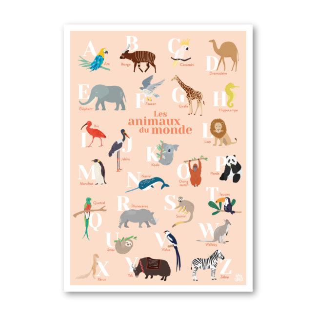 Affiche abécédaire animaux enfant